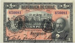 1 Peso CHILI  1919 P.015b SUP