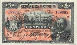 1 Peso CHILI  1919 P.015b NEUF