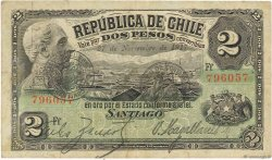 2 Pesos CHILI  1917 P.017 TB+