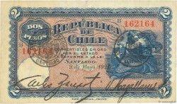 2 Pesos CHILI  1921 P.058 TTB