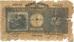 5 Pesos CHILI  1924 P.061 AB