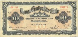 10 Pesos - 1 Condor CHILI  1929 P.083b TTB+