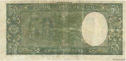 50 Pesos - 5 Condores CHILI  1942 P.094c TB