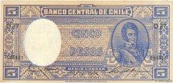 5 Pesos - 1/2 Condor CHILI  1944 P.102 TTB