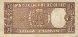 10 Pesos - 1 Condor CHILI  1943 P.103 TTB