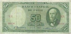 50 Pesos - 5 Condores CHILI  1947 P.104 TB
