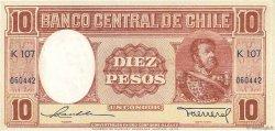 10 Pesos - 1 Condor CHILI  1947 P.111 SPL