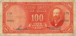 100 Pesos - 10 Condores CHILI  1947 P.113 TB