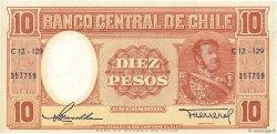 10 Pesos - 1 Condor CHILI  1958 P.120 SUP