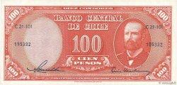 100 Pesos - 10 Condores CHILI  1958 P.122 SUP