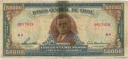 50000 Pesos - 5000 Condores CHILI  1958 P.123 B