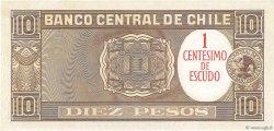 1 Centesimo sur 10 Pesos CHILI  1960 P.125 NEUF