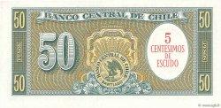 5 Centesimos sur 50 Pesos CHILI  1960 P.126a pr.NEUF
