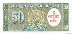 5 Centesimos sur 50 Pesos CHILI  1960 P.126b pr.NEUF