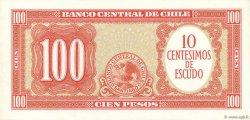 10 Centesimos sur 100 Pesos CHILI  1960 P.127a SPL