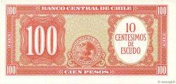10 Centesimos sur 100 Pesos CHILI  1960 P.127a NEUF