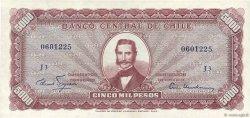 5 Escudos sur 5000 Pesos CHILI  1960 P.130 SUP+