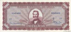 5 Escudos sur 5000 Pesos CHILI  1960 P.130 SPL