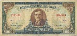 50 Escudos sur 50000 Pesos CHILI  1960 P.133 TB