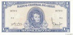 1/2 Escudo CHILI  1962 P.134Aa SPL