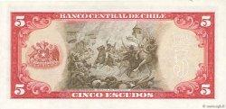 5 Escudos CHILI  1964 P.138 SPL