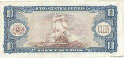 100 Escudos CHILI  1964 P.141a TTB