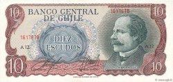 10 Escudos CHILI  1970 P.142