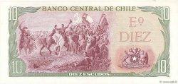 10 Escudos CHILI  1970 P.142Aa NEUF