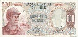 500 Escudos CHILI  1971 P.145 TTB