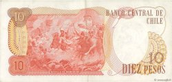 10 Pesos CHILI  1975 P.150b TTB