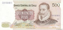 500 Pesos CHILI  1989 P.153b pr.NEUF