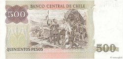 500 Pesos CHILI  1990 P.153b SPL