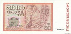 5000 Pesos CHILI  1997 P.155e pr.NEUF