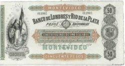 50 Pesos - 5 Doblones URUGUAY  1872 PS.238r SPL