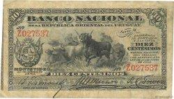 10 Centesimos URUGUAY  1887 P.A087a TB