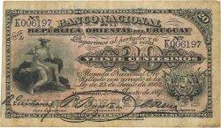20 Centesimos URUGUAY  1887 P.A088a TB+