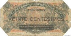 20 Centesimos sur 1 Peso URUGUAY  1918 P.014 B