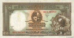 50 Centesimos URUGUAY  1935 P.027a TTB+
