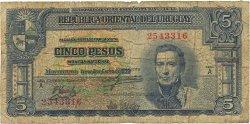 5 Pesos URUGUAY  1939 P.036a B