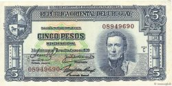 5 Pesos URUGUAY  1939 P.036b SUP