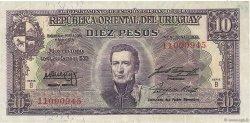 10 Pesos URUGUAY  1939 P.037b pr.TTB