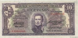 10 Pesos URUGUAY  1939 P.037b