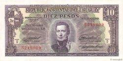 10 Pesos URUGUAY  1939 P.037d SPL