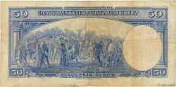 50 Pesos URUGUAY  1939 P.038b TB