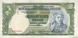 500 Pesos URUGUAY  1939 P.040c TTB