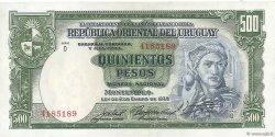 500 Pesos URUGUAY  1939 P.040c SUP