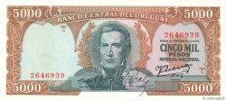 5000 Pesos URUGUAY  1967 P.050c NEUF