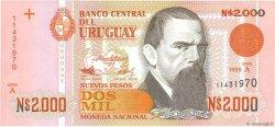 2000 Nuevos Pesos URUGUAY  1989 P.068a NEUF
