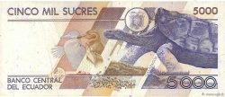 5000 Sucres ÉQUATEUR  1991 P.128a TTB