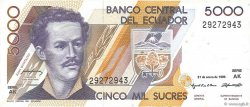 5000 Sucres ÉQUATEUR  1995 P.128b SUP